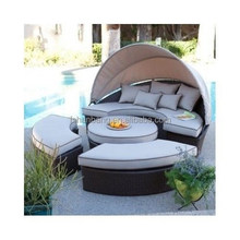 Outdoor Day Bed With Canopy Sectional Daybed Lounge Patio Deck Set Furniture