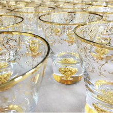 Hand Blown Gold-rimmed Clear Crystal Drinking Water Glass