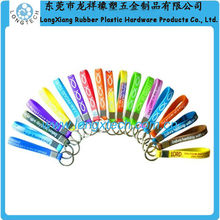 promotional silicone all types of keychains
