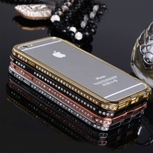 metal diamond phone case for iphone 6, for iphone 6 case