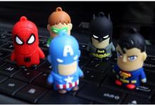 2015 hot selling Cartoon Captain America usb flash drive usb2.0 pen drive usb flash driver memory flash stick