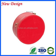 popular round jewelry cases leather jewelry case
