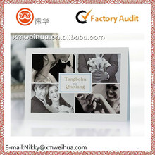 2015 customized unique DIY wedding invitation card with the photo