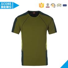 2015 Custom blank t shirt short sleeve polyester moisture wicking t shirt men wholesale t shirt men