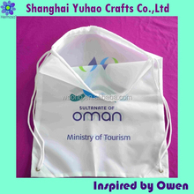 Hot sales cute shopping bags for promotion with logo and drawstring
