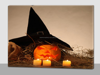 Halloween Light Up LED Colorful Canvas Painting with Various Size ,3d canvas painting