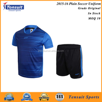 Sportswear man soccer jerseys set blank dri fit shirt football uniform with red black blue green various colors