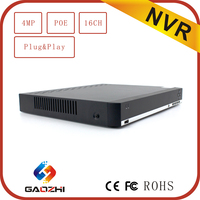 3MP 4MP POE P2P Onvif h 264 digital video recorder 16ch network dvr