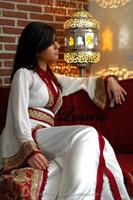 Elegant Women Beadings Blue Long Sleeve Long Evening Dresses Arabic Style Fancy Farasha Jalabiya Islamic Kaftan Abaya k1860