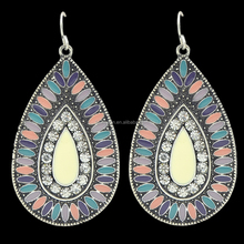 New Design Colorful Enamel Large Drop Earrings Jewelry Fashion