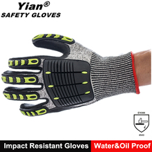 Oilfield safety used high impact protective bones work gloves