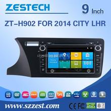 In-dash car dvd for Honda CITY 2014 LHR suppot GPS+Bluetooth+Radio+SWC+Digital TV+3G internet+WIFI+ATV+DVR