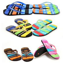 2015 couples beach flip flops household word spell color leisure tourist trailer fashion slippers rainbow