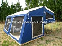 Outdoor camping hard floor camper trailer tent