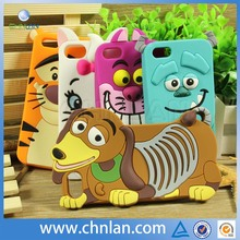 2014 New Various Popular Style Animal Design 3d Silicone Phone Case