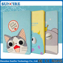 Mini Cartoon PU leather case for ipad air 2, leather case for ipad