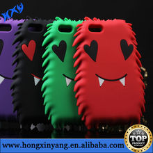 Peach heart Eyes with fangs animal Silicon case for iPhone 5G