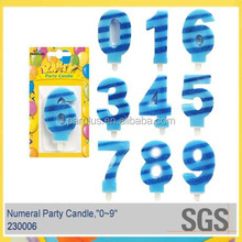 Individual packs of numbered birthday candles