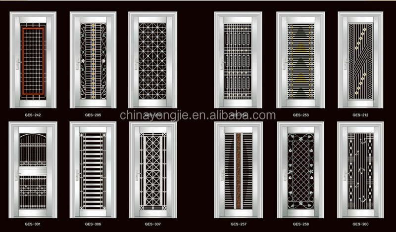 2015 best sale latest design stainless steel door design for Ss door design