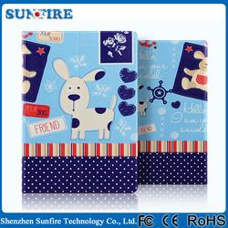 Cute Cartoon Flip Leather Case for ipad mini 2 case, for ipad mini smart case