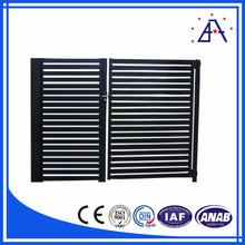 Noir en alliage d'aluminium ou en acier de Zinc clôture conception et fabrication
