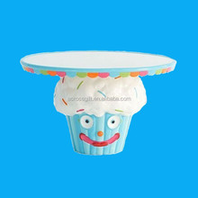 Mini ceramic cakecup cake stand for holiday