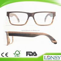 Europe market Italy design two tone veneer Natural wood eyeglass frame optical glasses