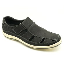 comfortable and easy wear fit for garden and indoor men house leather shoes