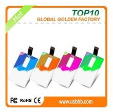 Wholesale factory price slim plastic Sticks credit card usb flash memory