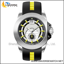 Sports watch for men with silicone band and steel buckle UN6124G-1