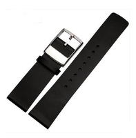 Genuine leather watch band for men with 1.8cm width