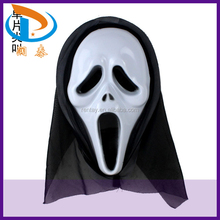 Best Selling 28*16mm White PVC Plastic Halloween Party Scary Masks