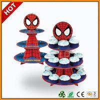 cardboard cheap cupcake cardboard cake stand ,cardboard counter top display box for cute cupcake stands