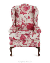 American style armchair floral design living room furniture commercial furniture