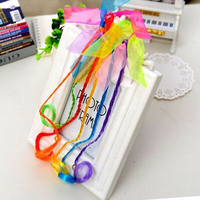 Professional hair accessories factory wholesale colorful hair extensions for kids ponytail hair extension