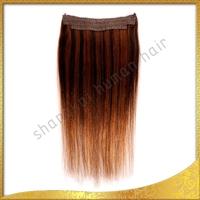 Cheap Brazilian Remy Human Hair Flip In Hair Extension/halo hair extension