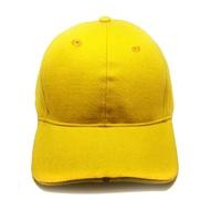 100% cotton custom logo yellow led baseball caps and hats