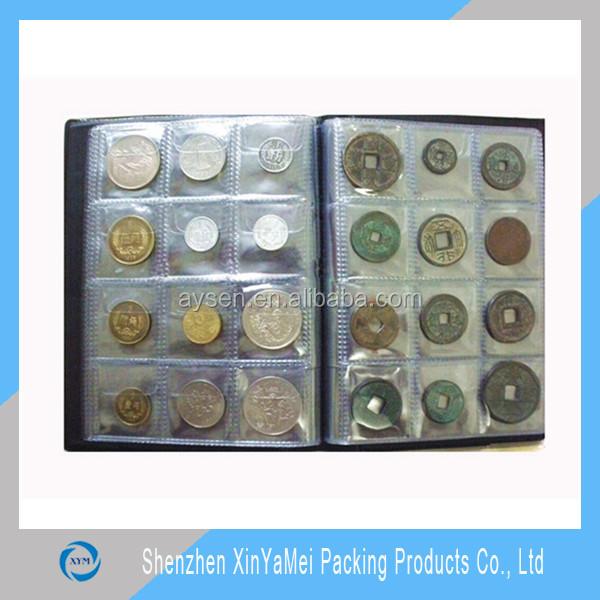 Recogida de papel personalizado pvc penny coin album