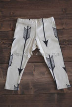 Lovely Organic baby Leggings Arrow printing leggings for baby boys