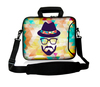 Good quality waterproof neoprene 14 inch heat transfer laptop handle bag with nylon shoulder