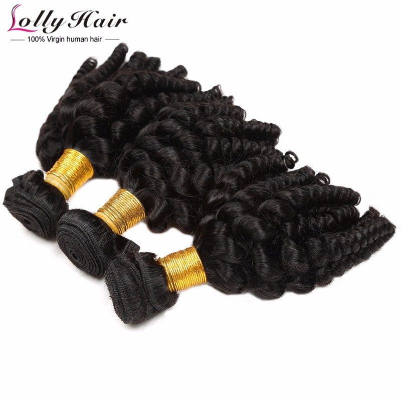 7A Peruvian Afro Curly Virgin Hair Weave 3 Bundles 300g Human Hair Extension