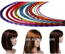 20 mixed feather hair extension kit with beads and hook