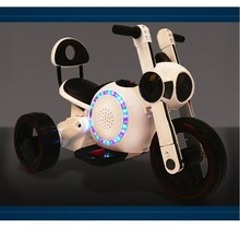 2015 Newest 3 wheels ride on battery motorcycle for kids with flash lights