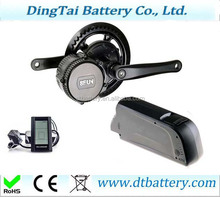 down tube 750W 48V 11.6ah electric bike lithium ion battery BY samsung cell with 8fun motor kit