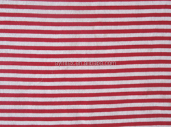 100% cotton stripe single jersey,single jersey fabric