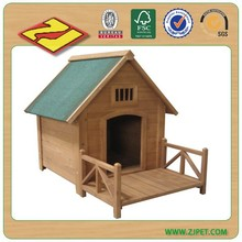 Wooden dog kennel pet kennel for sale DXDH008 (18 years professional factory)