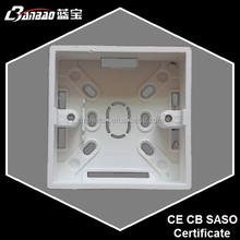 86 type plastic surface switch and socket box for home decoration