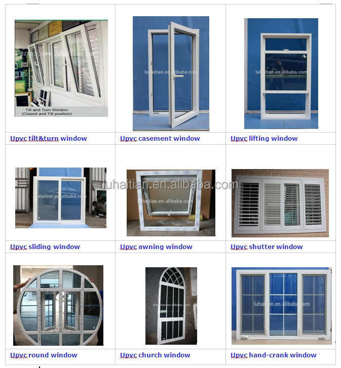 American Style Top Hung Ventilation Glass Window Pvc Hung