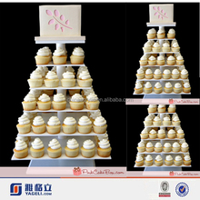 New fashion high quality custom 4 tier acrylic cupcake stands wedding cake stands