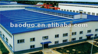 prefabricated light steel frame house for workshop, factory, warehouse, office, car showroom, hangar